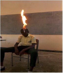 Science show at Kigali Parents school